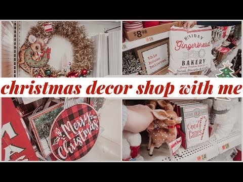 SHOP WITH ME FOR CHRISTMAS DECOR AT WALMART!