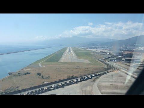 Landing in Genoa Cristoforo Colombo Airport
