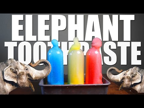 How To Make ELEPHANT TOOTHPASTE!