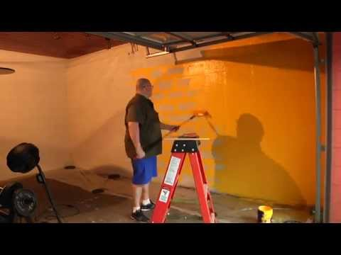 Painting garage gym wall in under seconds youtube