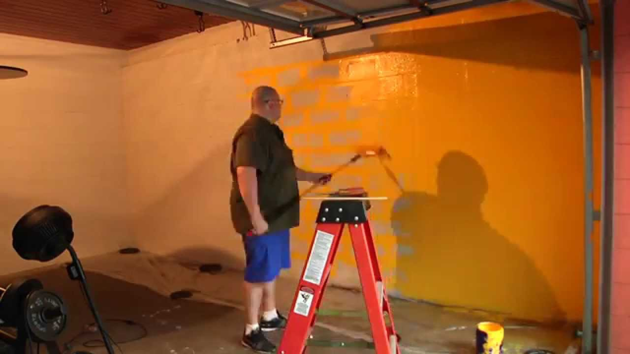 Painting garage gym wall in under 100 seconds! youtube