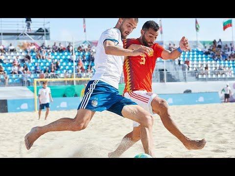 RESUMEN | España 2-1 Rusia. 3ª J. Torneo Liga Europea de Fútbol Playa
