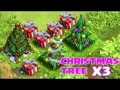 "CHRISTMAS TREE X3 (SPEED BUILD VR.2) ""Clash of Clans"""