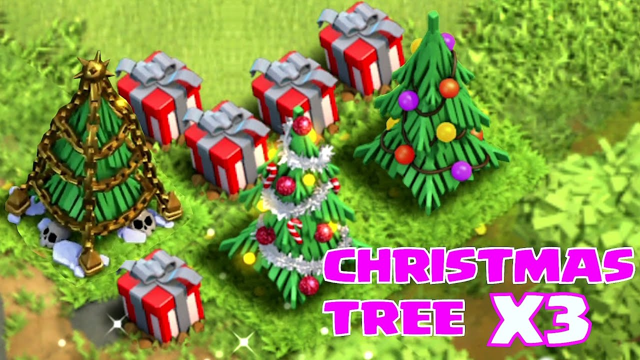 """CHRISTMAS TREE X3 (SPEED BUILD VR.2) """"Clash of Clans"""" - YouTube"""