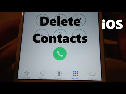 This tutorial is about how to delete contacts on iphone all at once. Here i show the steps by using .