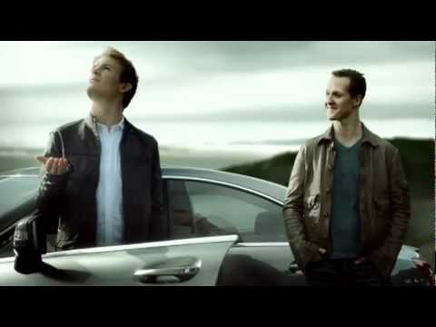 GER: Nico Rosberg und Michael Schumacher Mercedes-Benz Advertisement