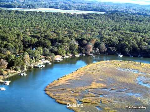 St Helena Island, Beaufort SC Waterfront Aerial Slide Show