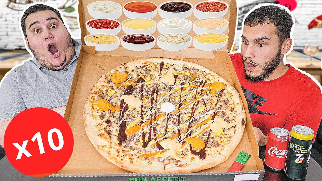 Download DÉGUSTATION GIGA PIZZA XXL ! (Avec 10 sauces..)