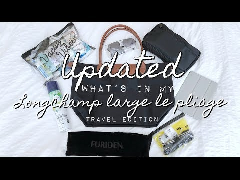 What's In My Travel Bag (Longchamp Large Le Pliage)