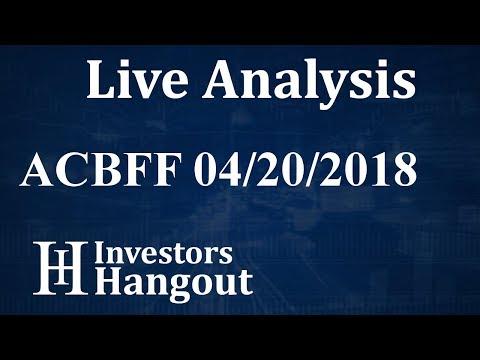 ACBFF Stock Aurora Cannabis Inc. Live Analysis 04-20-2018