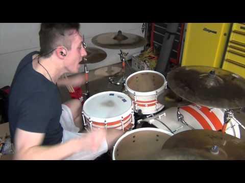 Twelve Gauge Valentine ~ Bone Crusher ~ Drum Cover