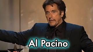 Al Pacino Accepts the AFI Life Achievement Award in 2007