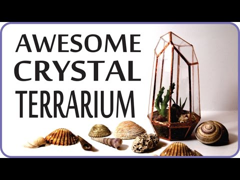 ❣AWESOME DIY Geometric Crystal Terrarium - Urban Outfitters & Pinterest Inspired❣