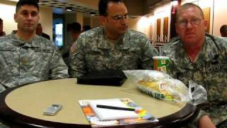 Army majors discuss training at CGSC