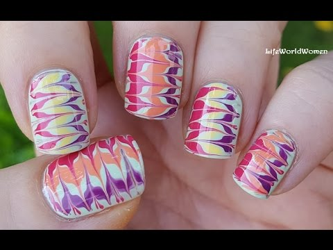 TOOTHPICK NAIL ART #16 / Super Colorful Drag Marble Nails