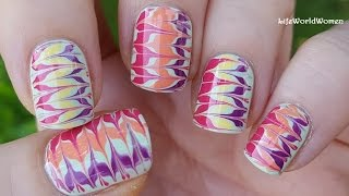 Gambar cover TOOTHPICK NAIL ART #16 / Super Colorful Drag Marble Nails