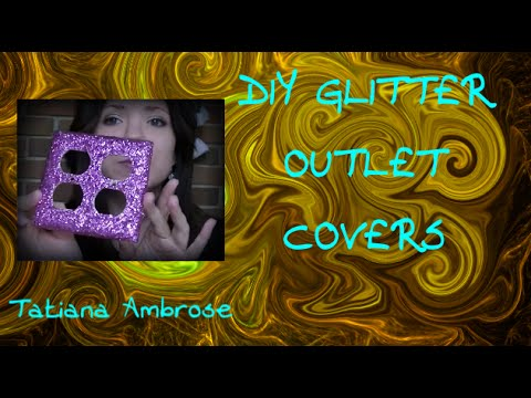 Diy glitter wall plates doovi for Arts and crafts outlet covers