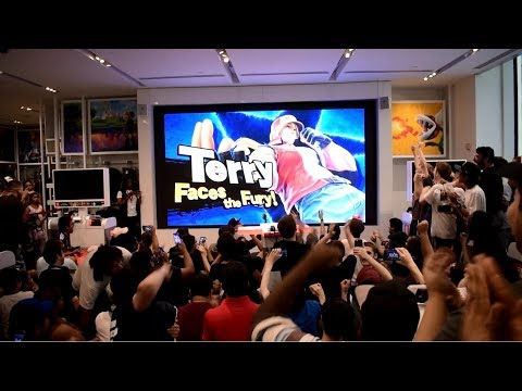 Terry Bogard Reveal for Super Smash Bros. Ultimate Live Reactions at Nintendo NY