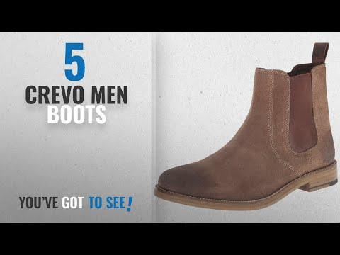 Top 10 Crevo Men Boots [ Winter 2018 ]: Crevo Men's Denham Chelsea Boot, Brown Suede, 10 M US