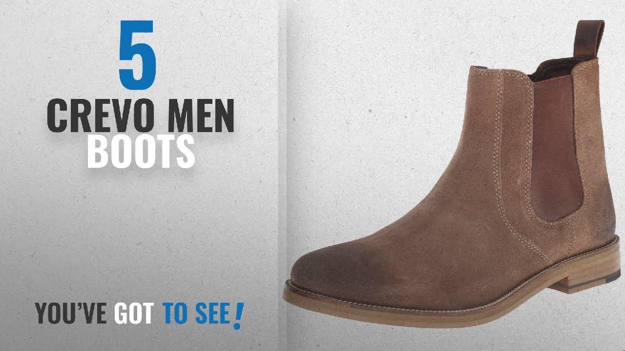 44d3f43d8d7 Top 10 Crevo Men Boots [ Winter 2018 ]: Crevo Men's Denham Chelsea Boot,  Brown Suede, 10 M US