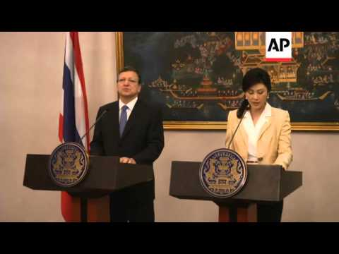 Barroso meets Thai PM with a view to forging closer trade links