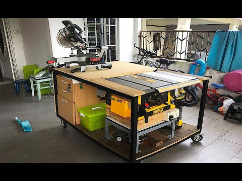 Short Review My mobile workbench with Dewalt DWE7470 Table Saw
