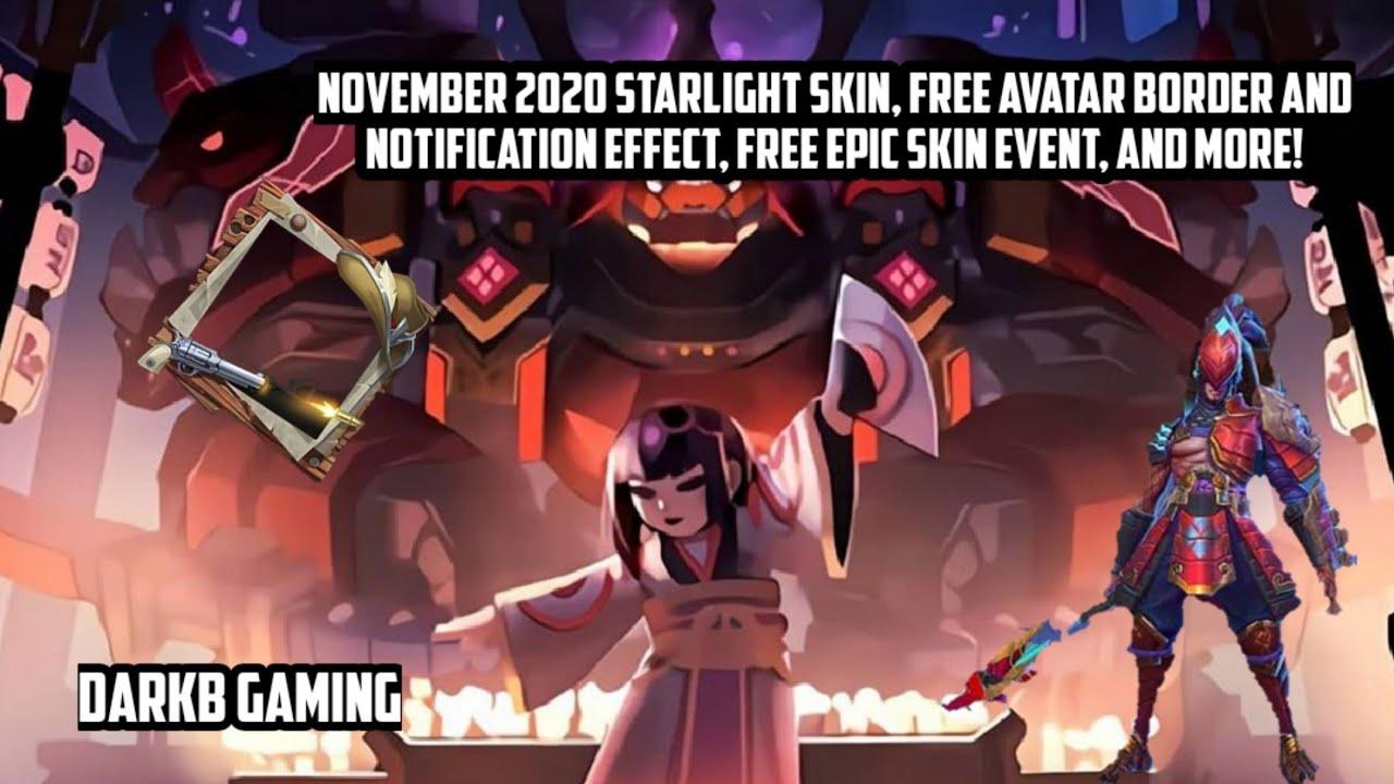 November 2020 Starlight Skin Confirmed, Free Avatar Border ...