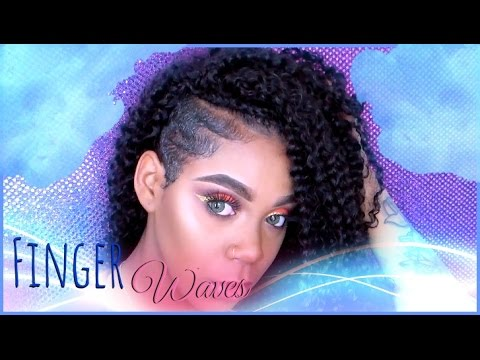 Easy Finger Waves On Shaved Sides Youtube