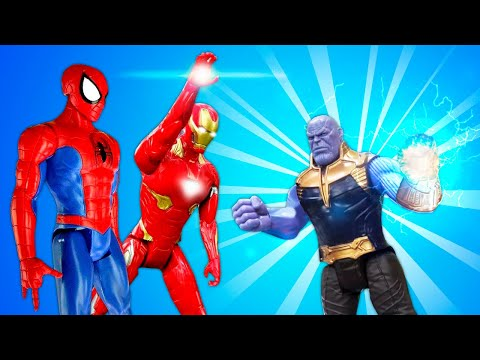 Новые игры с Супергероями – Мстители и Человек Паук против Таноса! – Онлайн видео.