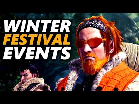 WINTER FESTIVAL EVENTS PC / PS4 - Monster Hunter World