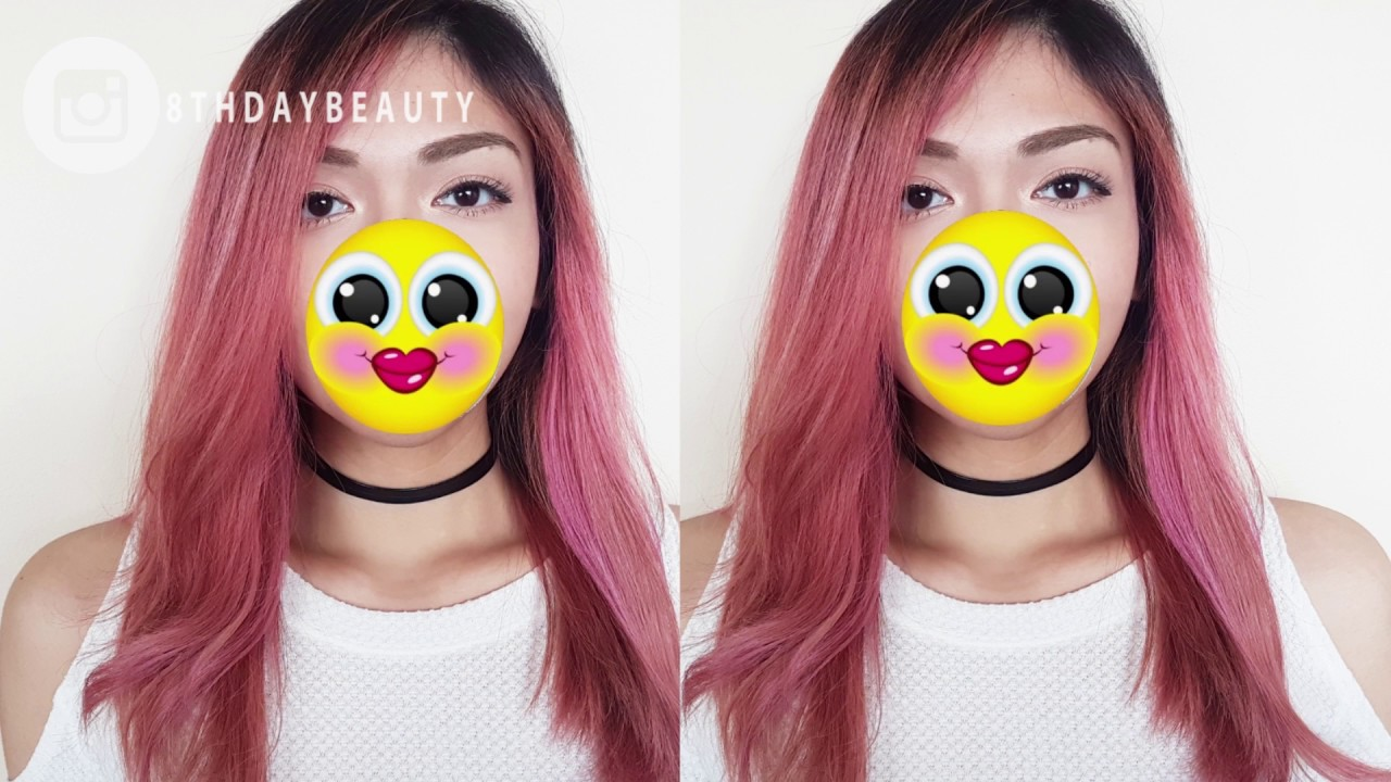 How To Dye Hair A Rose Gold Balayage Youtube