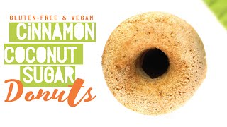 Cinnamon Coconut Sugar Donuts // oil-free, gluten-free, vegan