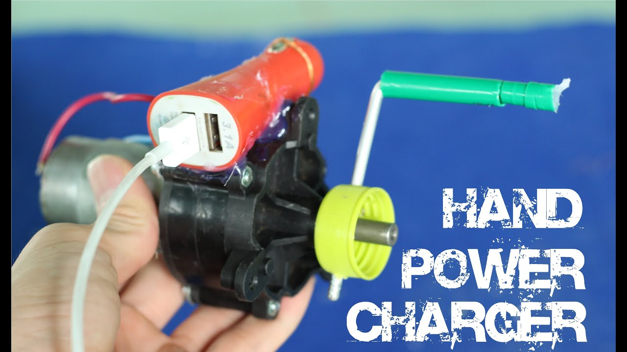 Diy Powerful Hand Power Usb Charger Youtube