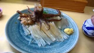 2012 函館朝市 活イカの踊り刺身定食