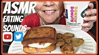 ASMR EATING DUNKIN DONUTS BIG N
