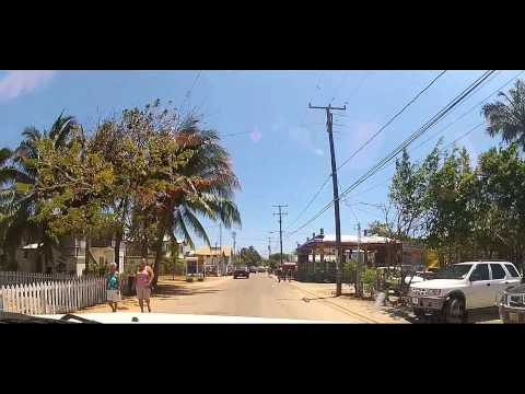 Driving through Placencia