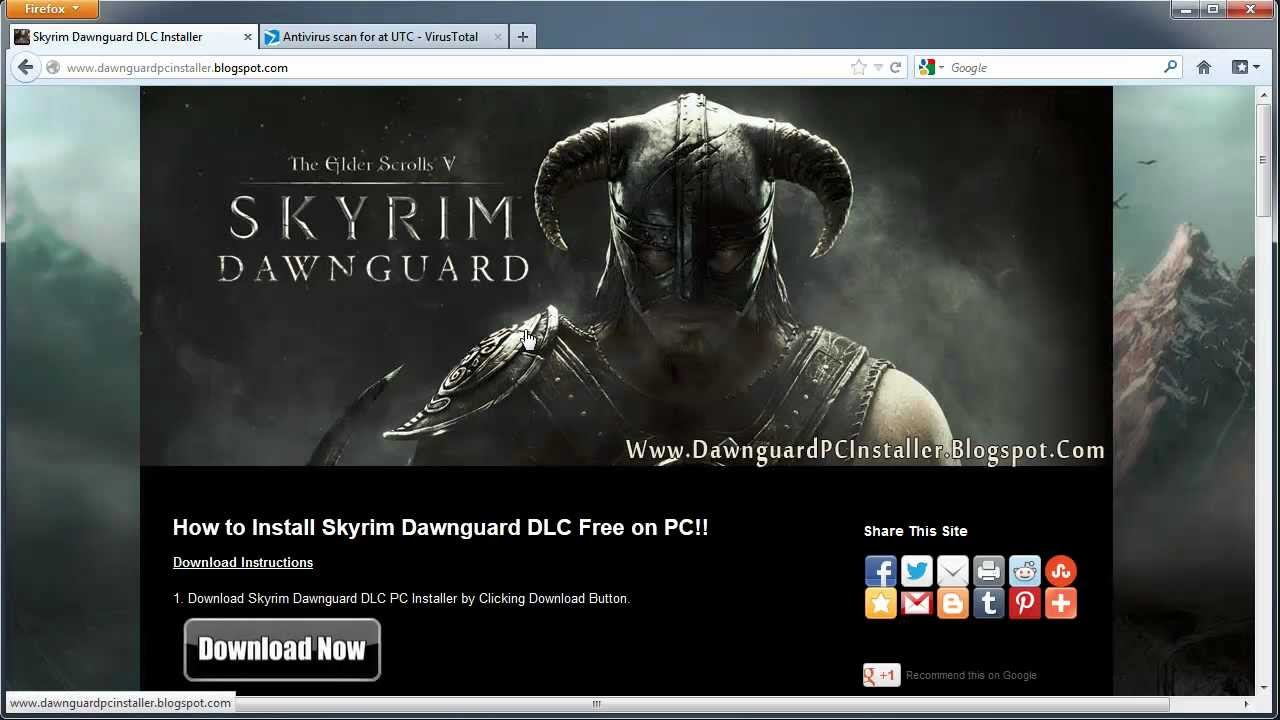 how to download skyrim for free