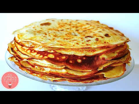 How to Make Blini | Russian Pancakes Recipe | Как сделать Блины