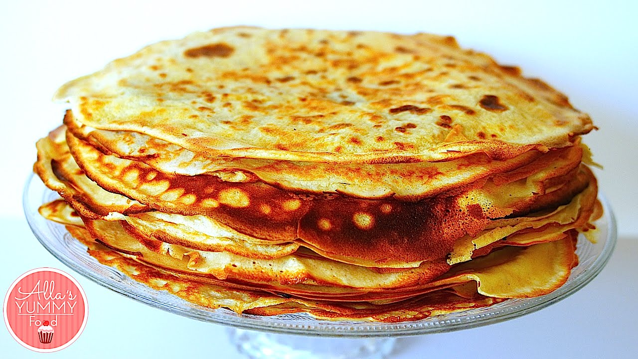 how to make blini russian pancakes recipe youtube. Black Bedroom Furniture Sets. Home Design Ideas