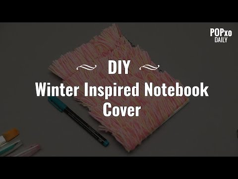 DIY: Winter Inspired Notebook Cover - POPxo Daily