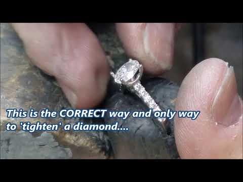 Watch Donald Duffy set a 1.07ct. OVAL DIAMOND...CORRECTLY