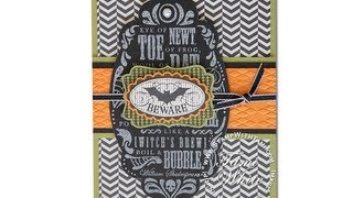 Halloween Toil & Trouble Card From The Stampin Up Holiday Catalog