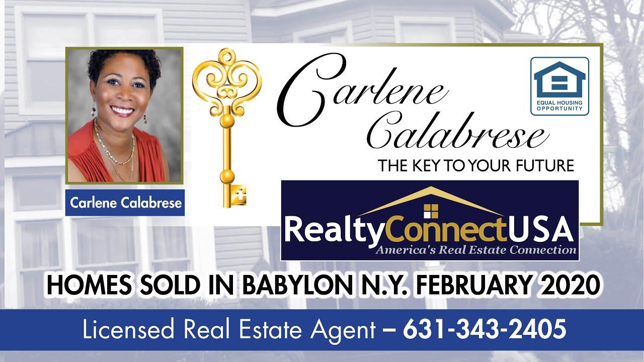 Sold homes in Babylon New York - February 2020