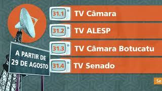 TV Câmara Botucatu passa a sintonizar no 31.3 a partir de 29 de agosto