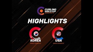 Korea v United States - Mixed Doubles Highlights - Curling World Cup First Leg – Suzhou