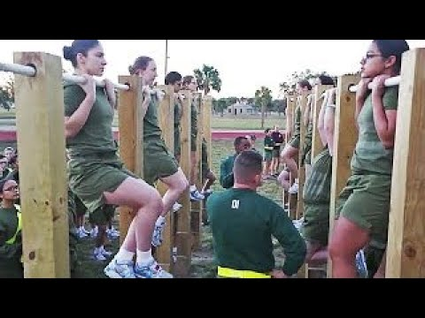 (Female Recruits) US Marine Corps Recruit Training - MCRD Parris Island Boot Camp