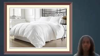 Chezmoi Collection White Goose Down Alternative Comforter Full Queen with Corner Tab