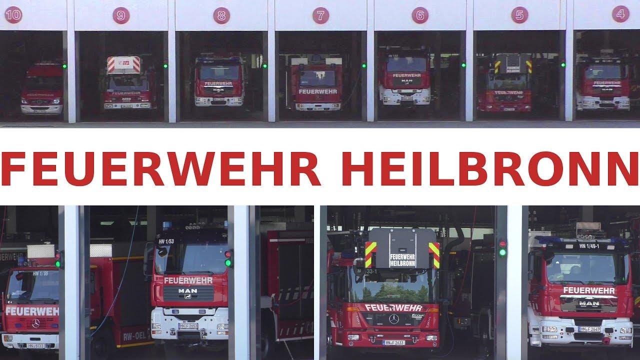 Feuerwehr Heilbronn 2018 Feuerwehrfahrzeuge Ausrückbereit Fire Brigade Heilbronn Fire Trucks