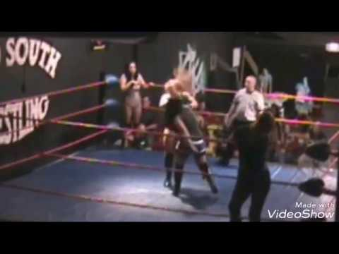 Belly punch in the Wrestling part 2 (huge woman)