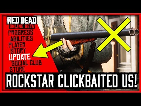 ROCKSTAR CLICKBAITED US... Red Dead Redemption 2 Online Title Update thumbnail